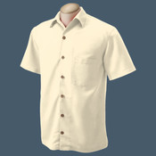 Embroidered Camp Shirt (Creme)